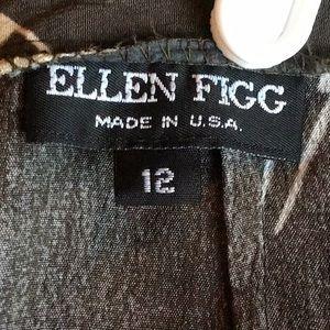 Ellen Figg Skirts - Vintage- Ellen Figg Rayon Midi Skirt
